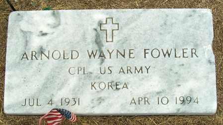 FOWLER (VETERAN KOR), ARNOLD WAYNE - Mississippi County, Arkansas | ARNOLD WAYNE FOWLER (VETERAN KOR) - Arkansas Gravestone Photos