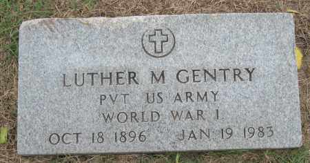 GENTRY (VETERAN WWI), LUTHER M - Mississippi County, Arkansas | LUTHER M GENTRY (VETERAN WWI) - Arkansas Gravestone Photos