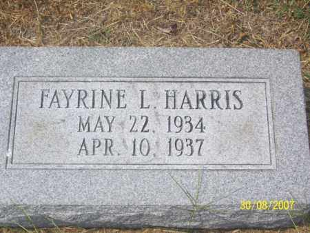 HARRIS, FAYRINE L. - Mississippi County, Arkansas | FAYRINE L. HARRIS - Arkansas Gravestone Photos