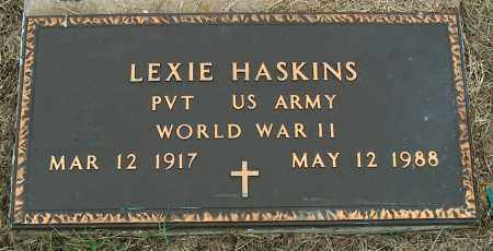 HASKINS (VETERAN WWII), LEXIE - Mississippi County, Arkansas | LEXIE HASKINS (VETERAN WWII) - Arkansas Gravestone Photos
