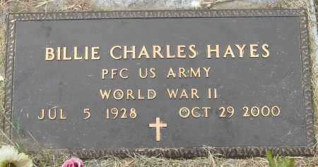 HAYES (VETERAN WWII), BILLIE CHARLES - Mississippi County, Arkansas | BILLIE CHARLES HAYES (VETERAN WWII) - Arkansas Gravestone Photos