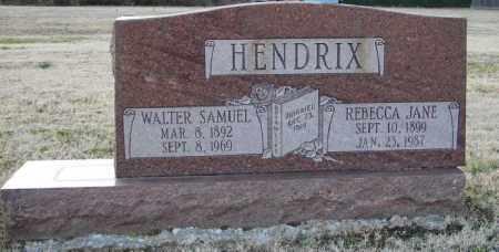 HENDRIX, WALTER SAMUEL - Mississippi County, Arkansas | WALTER SAMUEL HENDRIX - Arkansas Gravestone Photos