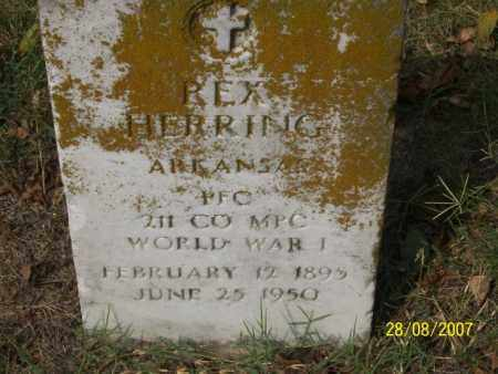 HERRING (VETERAN WWI), REX - Mississippi County, Arkansas | REX HERRING (VETERAN WWI) - Arkansas Gravestone Photos