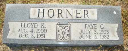 HORNER, LLOYD K - Mississippi County, Arkansas | LLOYD K HORNER - Arkansas Gravestone Photos