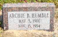 HUMBLE, ARCHIE B - Mississippi County, Arkansas | ARCHIE B HUMBLE - Arkansas Gravestone Photos