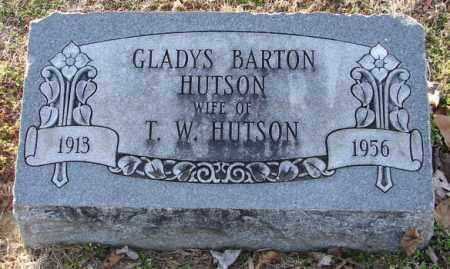 BARTON HUTSON, GLADYS - Mississippi County, Arkansas | GLADYS BARTON HUTSON - Arkansas Gravestone Photos