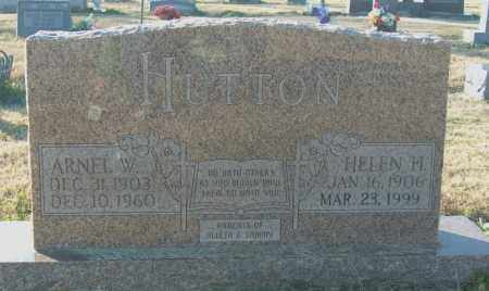 HUTTON, ARNEL W - Mississippi County, Arkansas | ARNEL W HUTTON - Arkansas Gravestone Photos