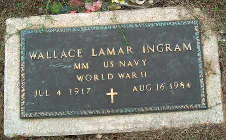 INGRAM (VETERAN WWII), WALLACE LAMAR - Mississippi County, Arkansas | WALLACE LAMAR INGRAM (VETERAN WWII) - Arkansas Gravestone Photos