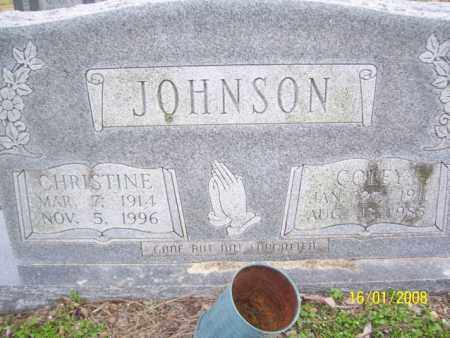 JOHNSON, CHRISTINE - Mississippi County, Arkansas | CHRISTINE JOHNSON - Arkansas Gravestone Photos