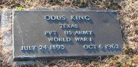 KING (VETERAN WWI), ODUS - Mississippi County, Arkansas | ODUS KING (VETERAN WWI) - Arkansas Gravestone Photos