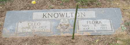 KNOWLTON, FLORA - Mississippi County, Arkansas | FLORA KNOWLTON - Arkansas Gravestone Photos