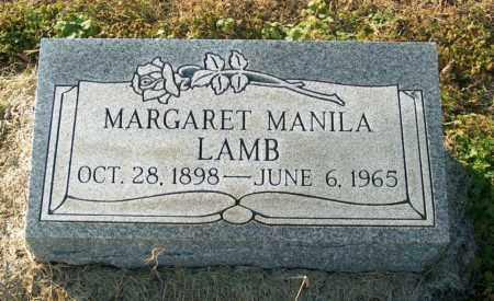LAMB, MARGARET MANILA - Mississippi County, Arkansas | MARGARET MANILA LAMB - Arkansas Gravestone Photos