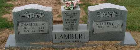 LAMBERT, CHARLES W - Mississippi County, Arkansas | CHARLES W LAMBERT - Arkansas Gravestone Photos
