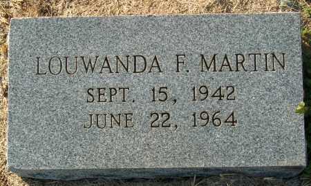 MARTIN, LOUWANDA F - Mississippi County, Arkansas | LOUWANDA F MARTIN - Arkansas Gravestone Photos