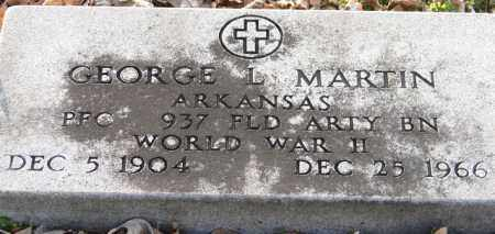 MARTIN (VETERAN WWII), GEORGE L - Mississippi County, Arkansas | GEORGE L MARTIN (VETERAN WWII) - Arkansas Gravestone Photos