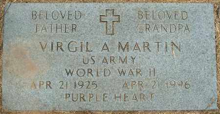 MARTIN (VETERAN WWII), VIRGIL A - Mississippi County, Arkansas | VIRGIL A MARTIN (VETERAN WWII) - Arkansas Gravestone Photos