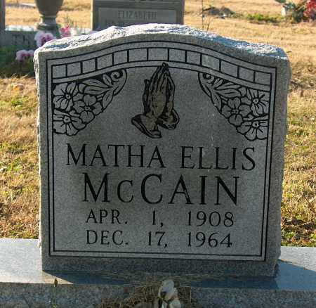 MCCAIN, MATHA ELLIS - Mississippi County, Arkansas | MATHA ELLIS MCCAIN - Arkansas Gravestone Photos
