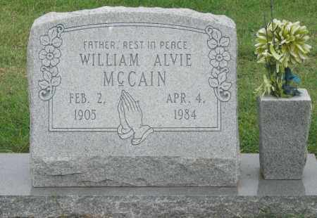 MCCAIN, WILLIAM ALVIE - Mississippi County, Arkansas | WILLIAM ALVIE MCCAIN - Arkansas Gravestone Photos