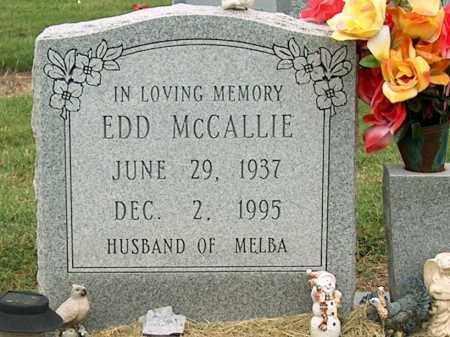 MCCALLIE, EDD - Mississippi County, Arkansas | EDD MCCALLIE - Arkansas Gravestone Photos