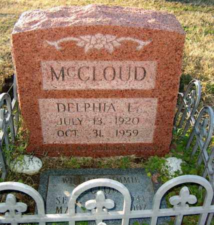 MCCLOUD, DELPHIA L - Mississippi County, Arkansas | DELPHIA L MCCLOUD - Arkansas Gravestone Photos