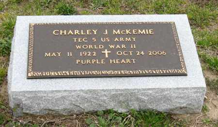 MCKEMIE (VETERAN WWII), CHARLEY J - Mississippi County, Arkansas | CHARLEY J MCKEMIE (VETERAN WWII) - Arkansas Gravestone Photos