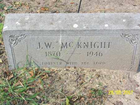 MCKNIGHT, J. W. - Mississippi County, Arkansas | J. W. MCKNIGHT - Arkansas Gravestone Photos