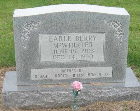 BERRY MCWHIRTER, EARLE - Mississippi County, Arkansas | EARLE BERRY MCWHIRTER - Arkansas Gravestone Photos