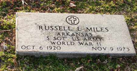 MILES (VETERAN WWII), RUSSELL L. - Mississippi County, Arkansas | RUSSELL L. MILES (VETERAN WWII) - Arkansas Gravestone Photos