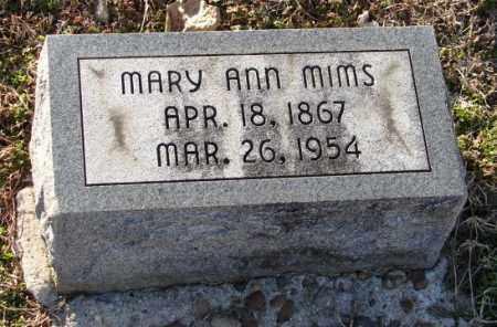 MIMS, MARY ANN - Mississippi County, Arkansas | MARY ANN MIMS - Arkansas Gravestone Photos