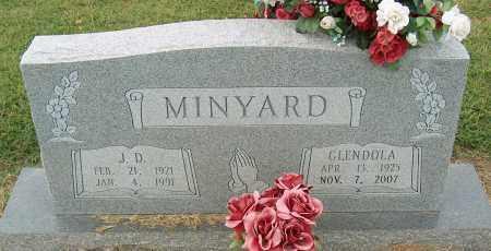 MINYARD, J.D. - Mississippi County, Arkansas | J.D. MINYARD - Arkansas Gravestone Photos