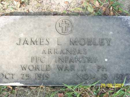 MOBLEY (VETERAN WWII), JAMES L. - Mississippi County, Arkansas | JAMES L. MOBLEY (VETERAN WWII) - Arkansas Gravestone Photos