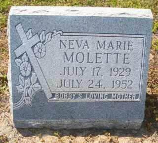 MOLETTE, NEVA MARIE - Mississippi County, Arkansas | NEVA MARIE MOLETTE - Arkansas Gravestone Photos