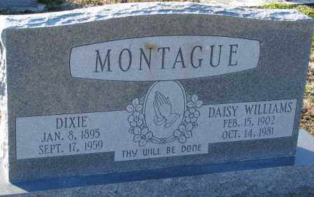 MONTAGUE, DIXIE - Mississippi County, Arkansas | DIXIE MONTAGUE - Arkansas Gravestone Photos