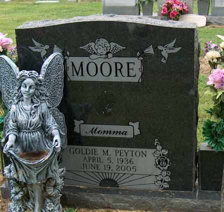 PEYTON MOORE, GOLDIE M - Mississippi County, Arkansas | GOLDIE M PEYTON MOORE - Arkansas Gravestone Photos