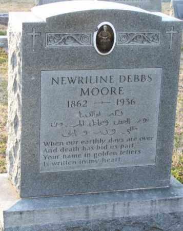 MOORE, NEWRILINE DEBBS - Mississippi County, Arkansas   NEWRILINE DEBBS MOORE - Arkansas Gravestone Photos