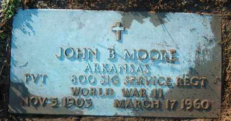 MOORE (VETERAN WWII), JOHN B - Mississippi County, Arkansas | JOHN B MOORE (VETERAN WWII) - Arkansas Gravestone Photos