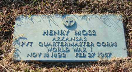 MOSS (VETERAN WWI), HENRY - Mississippi County, Arkansas | HENRY MOSS (VETERAN WWI) - Arkansas Gravestone Photos