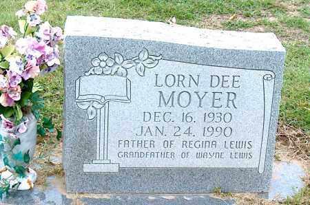 MOYER, LORN DEE - Mississippi County, Arkansas | LORN DEE MOYER - Arkansas Gravestone Photos