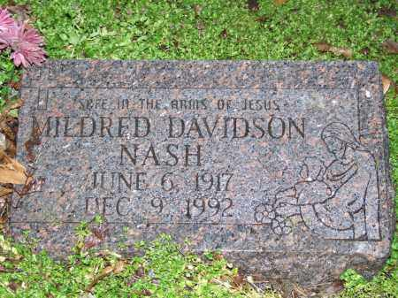 DAVIDSON NASH, MILDRED LOUISE - Mississippi County, Arkansas | MILDRED LOUISE DAVIDSON NASH - Arkansas Gravestone Photos