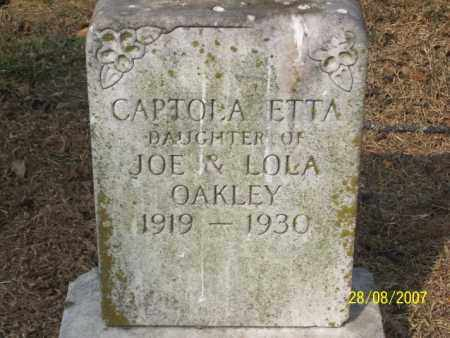 OAKLEY, CAPTOLA ETTA - Mississippi County, Arkansas | CAPTOLA ETTA OAKLEY - Arkansas Gravestone Photos