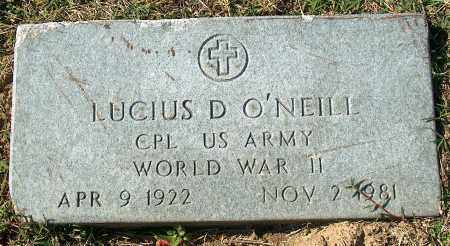 O'NEILL (VETERAN WWII), LUCIUS D - Mississippi County, Arkansas | LUCIUS D O'NEILL (VETERAN WWII) - Arkansas Gravestone Photos