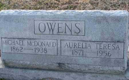 OWENS, MICHAEL MCDONALD - Mississippi County, Arkansas | MICHAEL MCDONALD OWENS - Arkansas Gravestone Photos