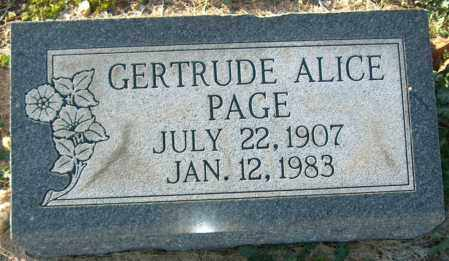 PAGE, GERTRUDE ALICE - Mississippi County, Arkansas | GERTRUDE ALICE PAGE - Arkansas Gravestone Photos
