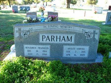 PARHAM, ANSLEY LORENA - Mississippi County, Arkansas | ANSLEY LORENA PARHAM - Arkansas Gravestone Photos