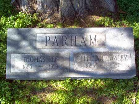 COWLEY PARHAM, TELLULAH - Mississippi County, Arkansas | TELLULAH COWLEY PARHAM - Arkansas Gravestone Photos