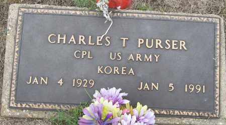 PURSER (VETERAN KOR), CHARLES T - Mississippi County, Arkansas | CHARLES T PURSER (VETERAN KOR) - Arkansas Gravestone Photos
