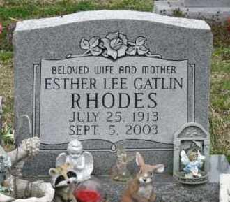 RHODES, ESTHER LEE - Mississippi County, Arkansas | ESTHER LEE RHODES - Arkansas Gravestone Photos