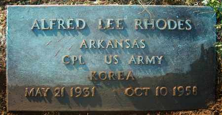 RHODES (VETERAN KOR), ALFRED LEE - Mississippi County, Arkansas | ALFRED LEE RHODES (VETERAN KOR) - Arkansas Gravestone Photos