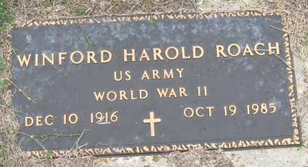 ROACH (VETERAN WWII), WINFORD HAROLD - Mississippi County, Arkansas | WINFORD HAROLD ROACH (VETERAN WWII) - Arkansas Gravestone Photos