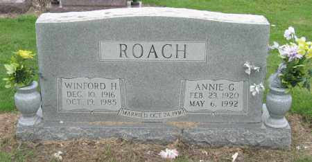 ROACH, ANNIE G - Mississippi County, Arkansas | ANNIE G ROACH - Arkansas Gravestone Photos